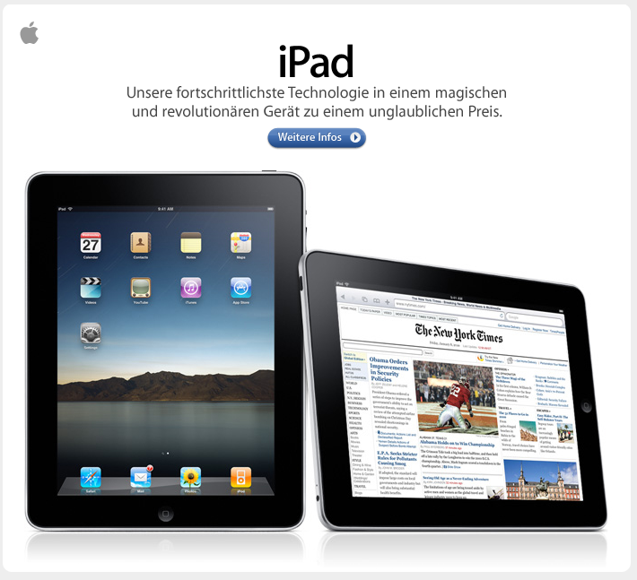 Einführung des iPad