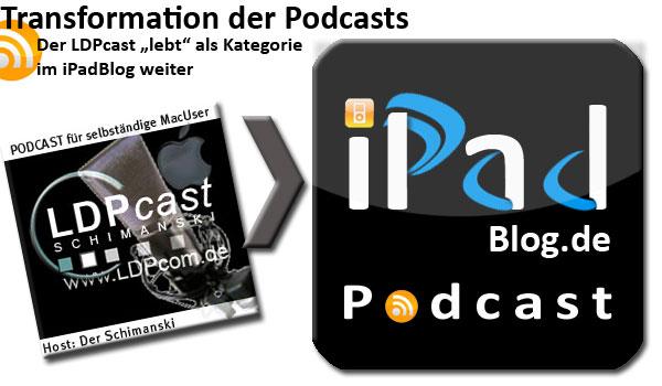 Transformation vom LDPcast zum iPadBlog.de Podcast