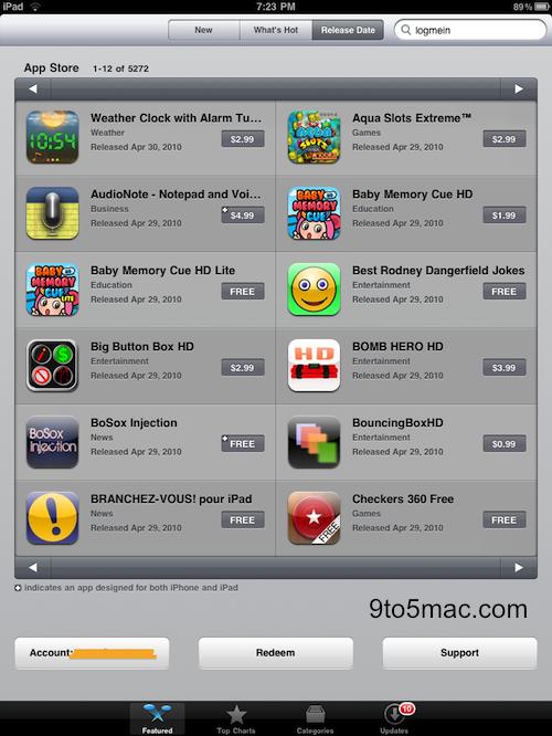 iPad Appstore sortiert nun auch nach Erscheinungsdatum