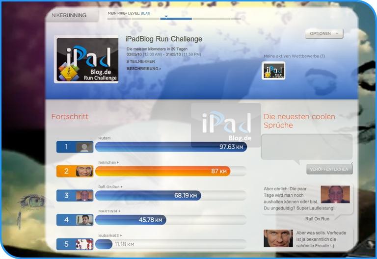 Noch vier Tage bis die 1. iPadBlog Run Challenge zu Ende geht