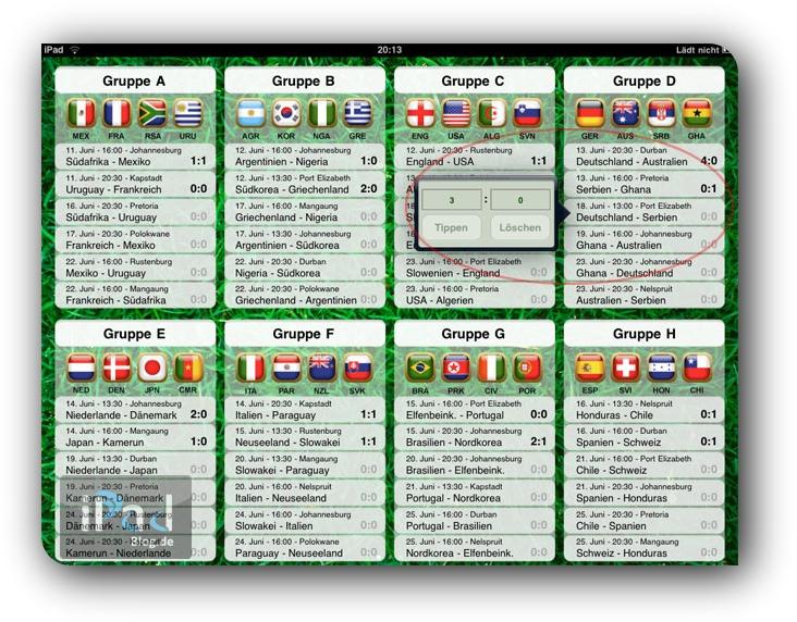 Cup 2010 Planner besticht durch Einfachheit und guter Benutzerführung.