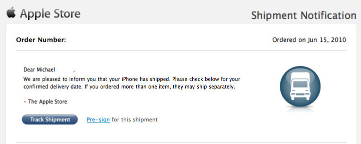 iPhone 4 bereits versendet