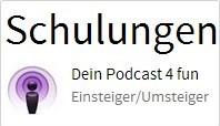 Schulungen bei der denkform zum Thema Podcasting