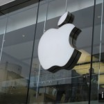 Bekannte Apple Logo an den Apple Stores