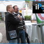 iPadBlog vor Ort mit ständigen Gesprächspartnern vor dem Apple Store in Frankfurt