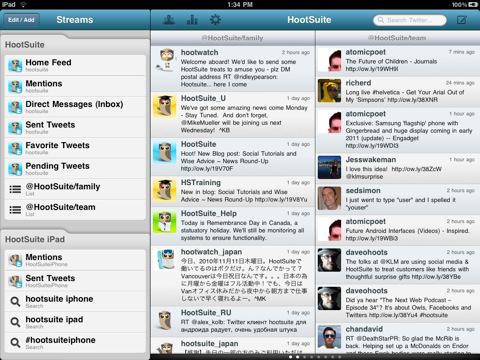 Sie können sich bei Hootsuite über ein soziales Netzwerk anmelden, das bereits mit Ihrem Dashboard verbunden ist. So melden Sie sich an. Tippen Sie auf die Hootsuite-App.