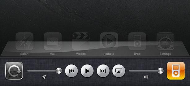 iPad Multitasking Leiste unter iOS 4.2