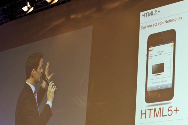 """Steffen Schlimmer präsentiert """"HTML5-Plus"""" (Foto: Seebach, iPadBlog.de)"""