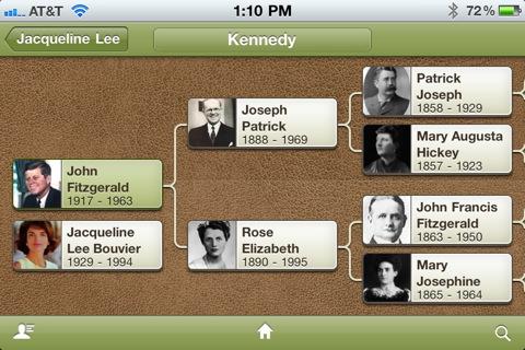 Visalisierungsform eines Stammbaums mit der Ancestry App