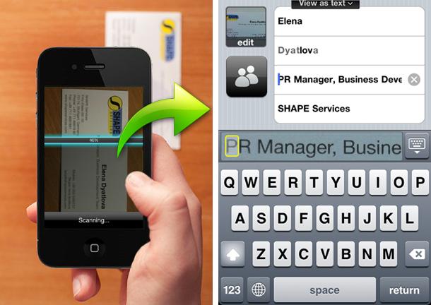 Business Card Reader App Liest Und Speichert Visitenkarten