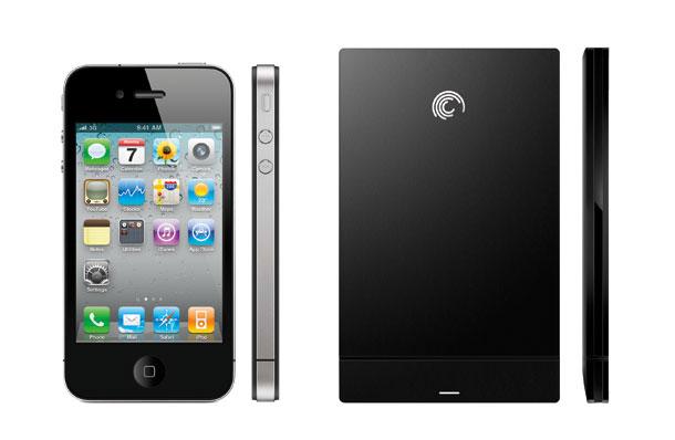 GoFlex Slim von Seagate im Vergleich zum iPhone 4