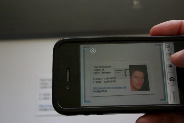 App Test Worldcard Mobile Visitenkarten Einscannen Mit
