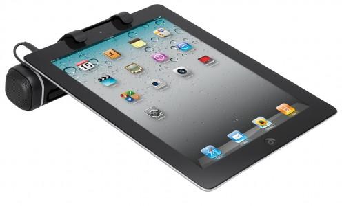 ipad lautsprecher von logitech tablet speaker for ipad. Black Bedroom Furniture Sets. Home Design Ideas