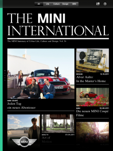 Das MINI International Magazin App