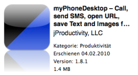 myPhoneDesktop – Call, send SMS, open URL, save Text and Images from your Desktop or Web Browser – jProductivity, LLC