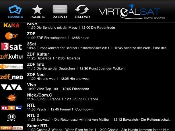 Virtualsat die tv streaming app f r das ipad for Spiegel tv live stream rtl