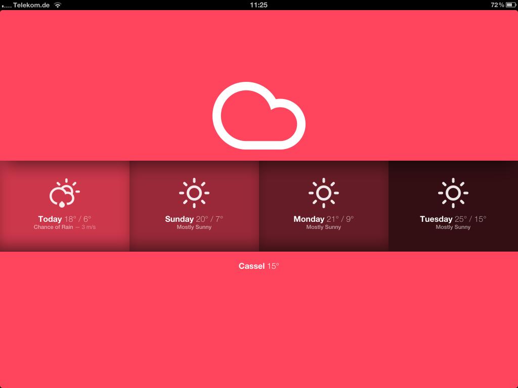 Pattern iOS Wetter Web-App