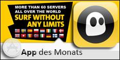 App des Monats August 2012 – Cyberghost