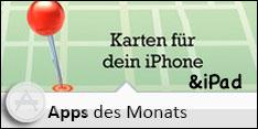 Die Apps des Monats - Kartenmaterial im November 2012 – Karten für Dein iPhone & iPad