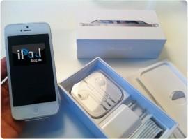 Das neue iPhone 5 in der Farbe weiss (white)