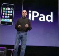 Steve Jobs präsentiert am 27.01.2010 das iPad