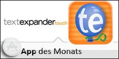 App des Monats Februar 2013 – TextExpander touch