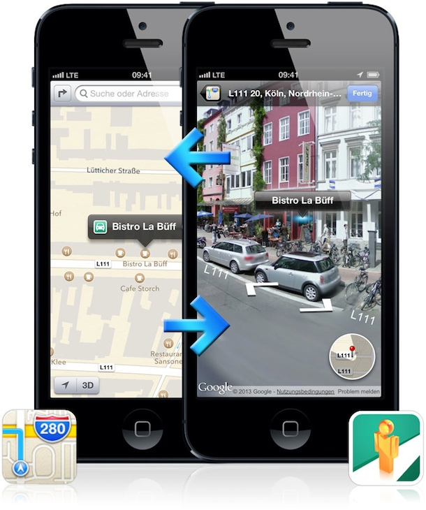 iPhone zeigen Street View