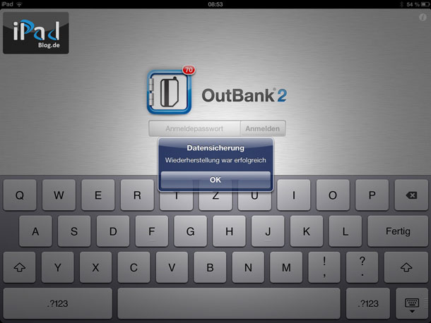 OutBank i sready for use