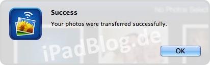Photo Transfer App bestätigt den erfolgreichen Download