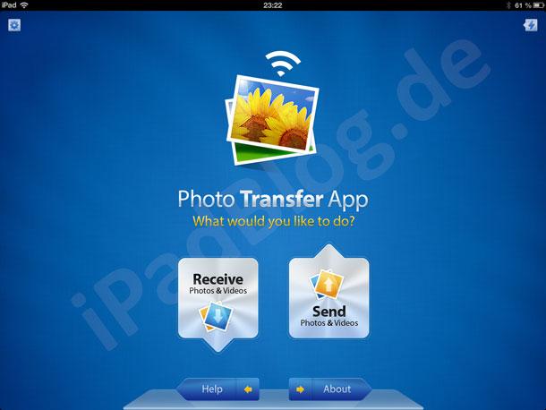 Photo Transfer App Titelbild