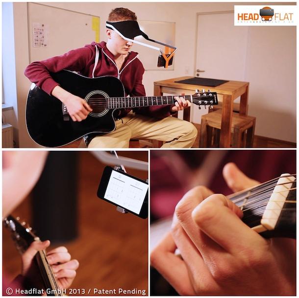 headflat beim Erlernen eines Musikinstrumentes