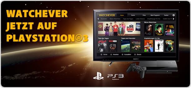 Film-Streaming: Watchever auf Playstation
