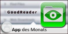App des Monats April 2013 – GoodReader