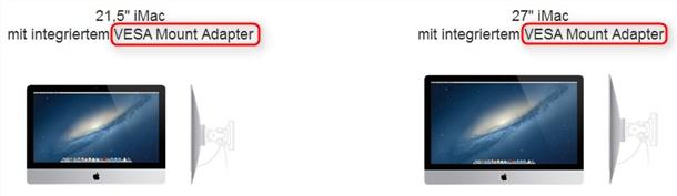 VESA am neuen Apple iMac