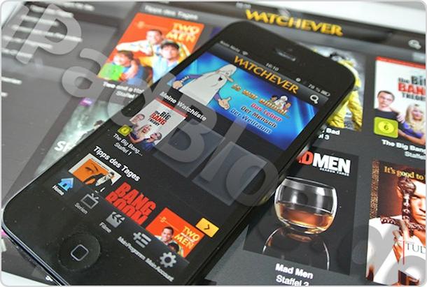 Watchever auf dem iPhone (iPad)