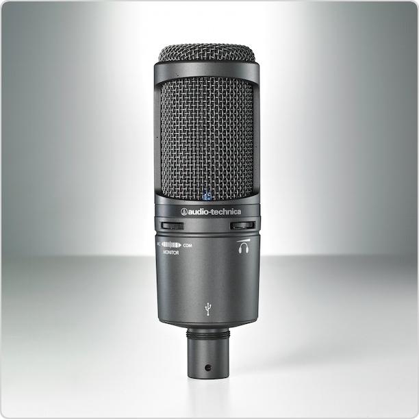 Das AT2020USB+ Kondensatormikrofon mit Nierencharakteristik