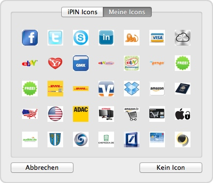 iPin erstellt eigene Icons