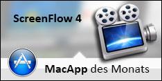 ScreenFlow 4 ist MacApp des Monats Juni 2013