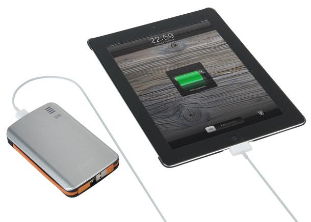 A-Solar AL370 Xtrom Power Bank tragbarer Li-Polymer Akku (7300mAh, microUSB) inkl. Adapter für Sony Ericsson/Samsung silber