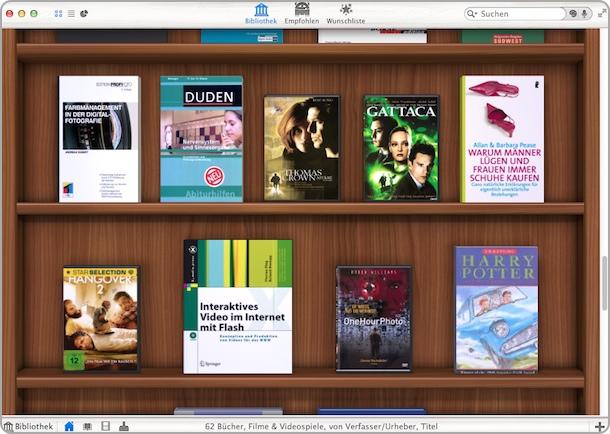 Ansicht: Delicious Library 3 Bücher-Regal