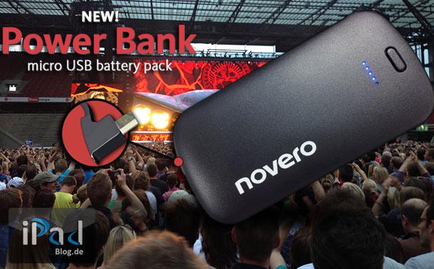 Novero Power Bank half mir beim Bon Jovi Konzert