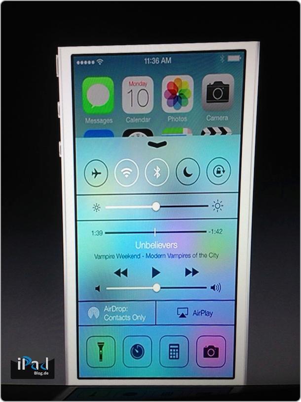 Erste Bilder von iOS 7 auf der WWDC
