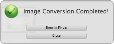 Image Conversion Completed bei Watermark FX