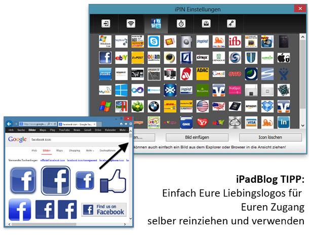 In iPin eigene Icons für Zugang verwenden
