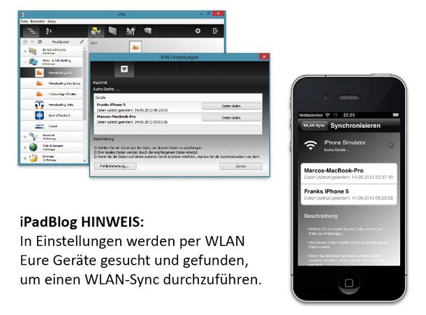 WLAN_Sync bei iPin für Windows