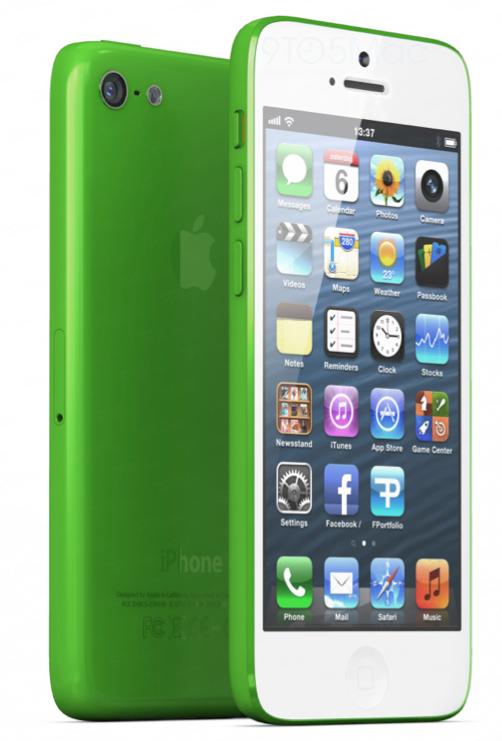 Das plastik iPhone in grün