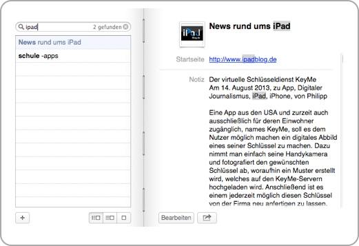 Beispiel iPadBlog Suche Schule Apps