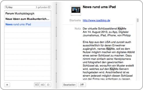 Beispiel iPadBlog Suche News rund um das iPad