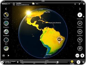 Verfolgen Sie die Temperaturentwicklung überall auf der Welt - nahezu in Echtzeit