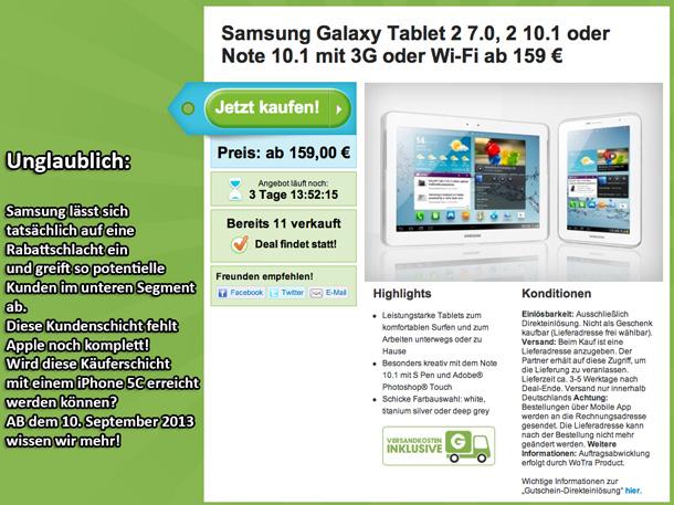 Rabattschlacht Samsung gegen Apple auf Groupon